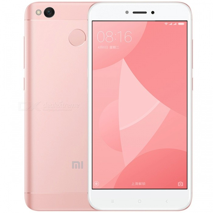Xiaomi Redmi 4X 5.0 Dual SIM Phone with 2GB RAM, 16GB ROM - PinkAndroid Phones<br>Form  ColorPinkRAM2GBROM16GBBrandXiaomiModelRedmi 4XQuantity1 pieceMaterialMetal + GlassShade Of ColorPinkTypeBrand NewPower AdapterEU PlugNetwork Type2G,3G,4GBand DetailsGSM: B2/B3/B5/B8   WCDMA: B1/B2/B5/B8 ;  FDD LTE:B1/B3/B5/B7/B8 ;TDLTE:B38:2600/B39:1900/B40:2300/B41:2555-2655MHzData TransferGPRS,HSDPA,EDGE,LTE,HSUPAWLAN Wi-Fi 802.11 a,b,g,nSIM Card TypeMicro SIM,Nano SIMSIM Card Quantity2Network StandbyDual Network StandbyGPSYes,A-GPSBluetooth VersionBluetooth V4.2Operating SystemAndroid 6.0CPU ProcessorSnapdragon 435 Octa-core 1.4GHzCPU Core QuantityOcta-CoreGPUAdreno 505LanguageRussian,Italian,German,French,Spanish,Polish,TurkiAvailable Memory16GBMemory CardMicro SDSize Range5.0~5.4 inchesTouch Screen TypeCapacitive ScreenScreen Resolution1280*720Screen Size ( inches)5.0Screen Edge2.5D Curved EdgeCamera Pixel13.0MPFront Camera Pixels5.0 MPFlashYesTouch FocusYesTalk Time36 hoursStandby TimeN/A hourBattery Capacity4100 mAhBattery ModeNon-removablefeaturesWi-Fi,GPS,FM,Bluetooth,OTGSensorG-sensor,Compass,Others,Light sensorWaterproof LevelIPX0 (Not Protected)Shock-proofNoI/O InterfaceMicro USB,3.5mm,OTGJAVANoReference Websites== Will this mobile phone work with a certain mobile carrier of yours? ==Packing List1 x Cell phone1 x Charger1 x Micro USB Cable1 x User Manual<br>