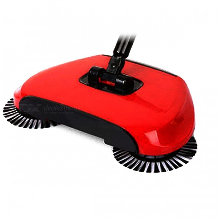 Hand Push Floor Sweeper, Vacuum Cleaner - RedForm  ColorBlack + RedMaterialABS + Stainless steelQuantity1 setPacking List1 x Vacuum cleaner<br>