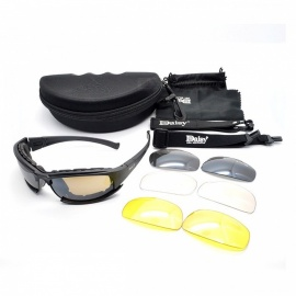 Tactical Military Army Polarized Goggles Sunglasses - Black