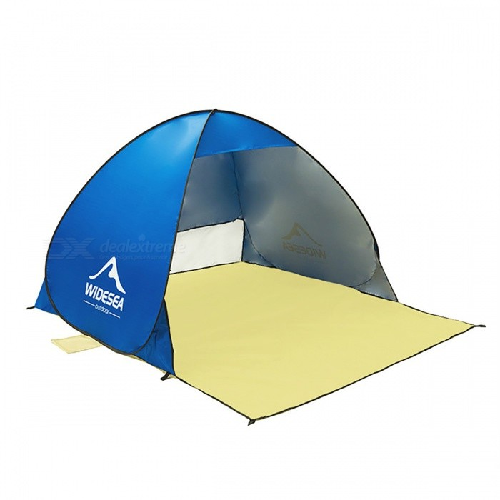 Pop Up Quick Automatic Open Beach Tent for 1-2 Persons - BlueTent And Shelter<br>Form  ColorBlueQuantity1 pieceModelN/AMaterial190T waterproof coated silver polyester fabricBest UseCamping,FishingSeasonsSummerSleeping capacity2 personsNumber of doors1 doorRainfly Fabric190T nylon+sunprotect coatingTent Body FabricNylonPole MaterialSteelPacking Size45cm x 45cm x 5cmWater Resistant1500-2000 mmPacking List1 x Tent<br>