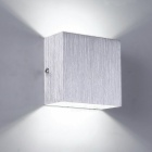 3W LED Neutral White Wall Mount Light Lamp for Bedroom - Silver