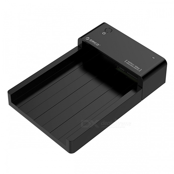 ORICO USB3.0 HDD Hard Drive &amp; SSD Docking Station - EU PlugHDD Enclosures &amp; Cases<br>Form  ColorEU PlugModel6518US3Quantity1 pieceMaterialPlasticForm Factor2.5,3.5InterfaceUSB 3.0Powered ByAC ChargerSupports Max. Capacity8 TBMax Sequential Read0Max Sequential Write0Packing List1 x USB3.0 2.5 &amp; 3.5 inch Docking Station 1 x Power Adapter 1 x USB3.0 Cable<br>