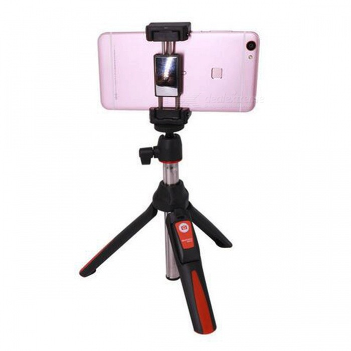 MK10 Handheld &amp; Mini Tripod 3 in 1 Self-portrait Monopod - OrangeTripods and Holders<br>Form  ColorOrangeModelMK10MaterialAluminumQuantity1 pieceShade Of ColorOrangeTypeMonopodRetractableYesFolded Size18 cmFull Size 85 cmPacking List1 x Selfie stick1 x Phone Tripod Mount1 x Gopro adapter1 x Bluetooth control<br>