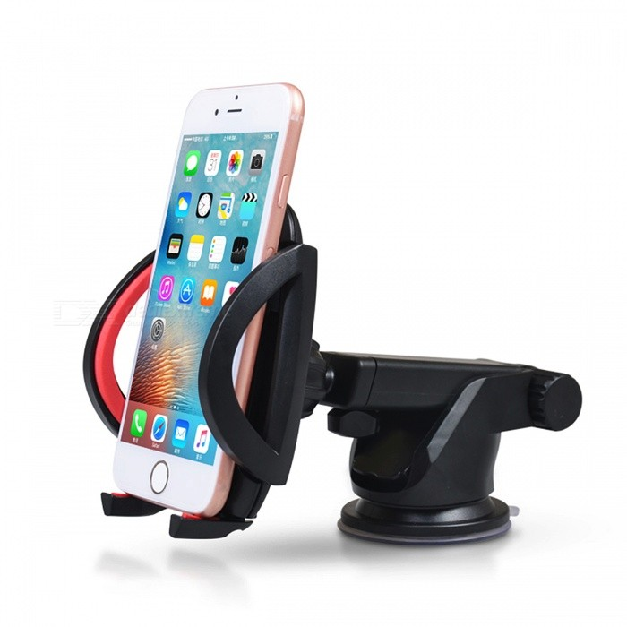 Universal Car Windshield Mobile Phone Holder Mount - RedCar Holders and Organizer<br>Form  ColorRedModel-Quantity1 pieceMaterialPlasticShade Of ColorRedPacking List1 x Car Windshield Mobile Phone Universal Holder<br>