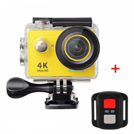 H9R Ultra HD 4K Wi-Fi Action Camera with Remote Control - Yellow