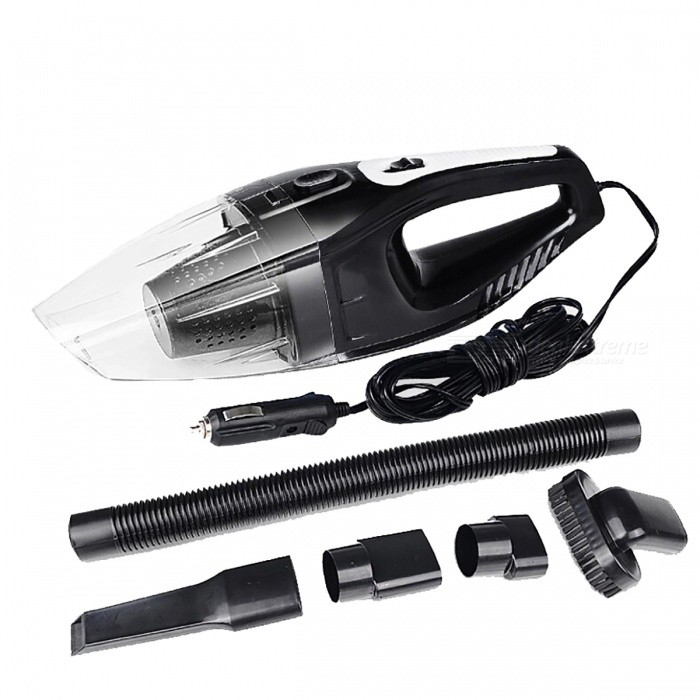 120W Car Vacuum Cleaner Wet And Dry Dual Use Hepa Filter - BlackCar Cleaning Tools<br>Form  ColorBlackModel-Quantity1 setMaterialABS &amp; MetalShade Of ColorBlackTypeOthers,N/APacking List1 x Car Vacuum Cleaner1 x Flat Nozzle1 x Soft EVA Pipe1 x Brush Nozzle2 x Pipe Connectors<br>