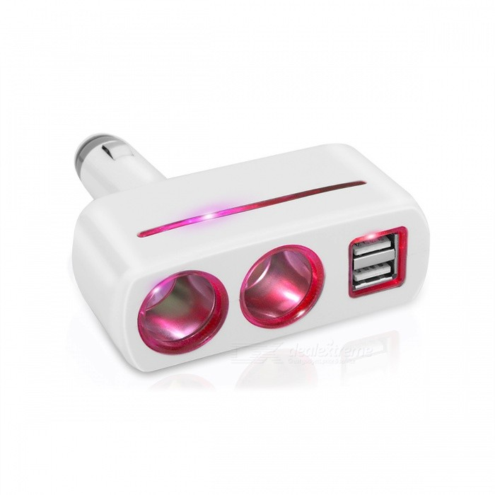 Car Cigarette Lighter Power Socket, Splitter Power Adapter - WhiteCar Power Chargers<br>Form  ColorWhiteShade Of ColorWhiteModel-Quantity1 pieceMaterialPlasticInput Voltage12~24 VOutput Voltage5 VOutput Current3.1 AInterfaceUSBApplicationCarPacking List1 x Car Cigarette Lighter<br>