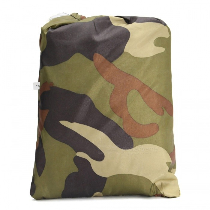 Universal 190T Camouflage Waterproof Motorcycle ATV Vehicle Cover - XLOthers<br>Form  ColorXLModel-Quantity1 pieceMaterialWaterproof 190T Polyester Taffeta PU and Anti-UV coatingWaterproof FunctionYesInterfaceOthersPacking List1 x ATV Cover1 x Storage Bag<br>
