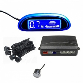 Car Parking Assistance 4Pcs Parking Sensors with LED Display - Golden