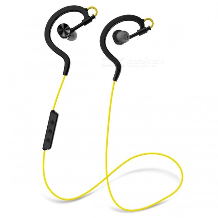 SYLLABLE D700 In-Ear Bluetooth 4.0 Headsets Sports Earphones - YellowHeadphones<br>Form  ColorYellowBrandSyllableModelD700MaterialPlasticQuantity1 DX.PCM.Model.AttributeModel.UnitConnectionBluetoothBluetooth VersionBluetooth V4.0Operating Range10MConnects Two Phones SimultaneouslyYesHeadphone StyleBilateral,Earbud,In-Ear,Ear-hookWaterproof LevelOthers,SweatproofApplicable ProductsUniversalHeadphone FeaturesPhone Control,Noise-Canceling,Volume Control,With Microphone,Lightweight,Portable,For Sports &amp; ExerciseSupport Memory CardNoSupport Apt-XNoSensitivity122±3dBFrequency Response20-22000HzImpedance32 DX.PCM.Model.AttributeModel.UnitStandby Time180 DX.PCM.Model.AttributeModel.UnitMusic Play Time5 DX.PCM.Model.AttributeModel.UnitPacking List1 x Earphone1 x Pair of Earbuds1 x USB cable1 x Manual<br>