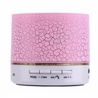 LED Portable Mini Bluetooth Speakers Wireless Hands Free - Pink