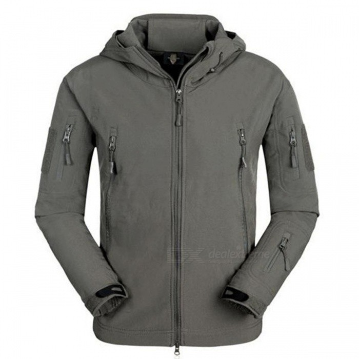 Impermeable Soft Shell Tactical Chaqueta - Gris