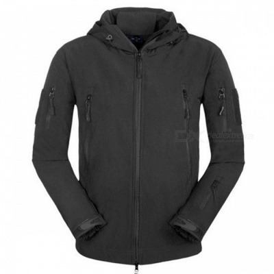 Waterproof Soft Shell Tactical Jacket - Black