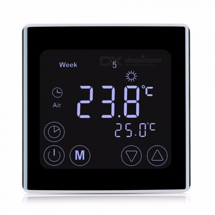 backlit lcd touch screen room temperature controller thermostat free shipping dealextreme. Black Bedroom Furniture Sets. Home Design Ideas