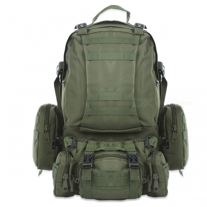 Outdoor Sports Backpack 50L Tactical Bag for Hiking - Army GreenForm  ColorArmy GreenBrandOthers,Others,N/AModelN/AQuantity1 pieceMaterialPolyesterTypeHiking &amp; CampingGear Capacity50 LCapacity Range40L~60LFrame TypeExternalNumber of exterior pockets5Raincover includedNoBest UseClimbing,Family &amp; car camping,Mountaineering,TravelTypeTactical BackpacksPacking List1 x Climbing Tactical Bag<br>