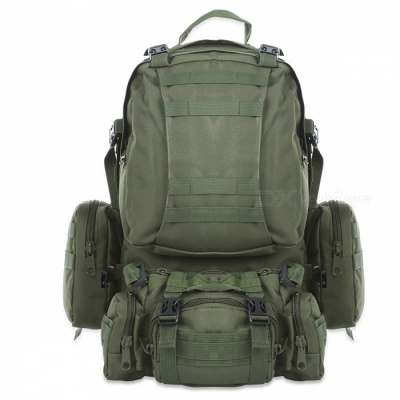 Outdoor Sports Backpack 50L Tactical Bag for Hiking - Army Green
