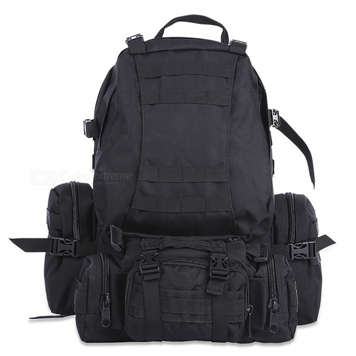 Outdoor Backpack 50L Tactical Sport Bag for Climbing Hiking - BlackForm  ColorBlackBrandOthers,Others,N/AModelN/AQuantity1 pieceMaterialPolyesterTypeHiking &amp; CampingGear Capacity50 LCapacity Range40L~60LNumber of exterior pockets5Raincover includedNoBest UseClimbing,Family &amp; car camping,Mountaineering,TravelTypeTactical BackpacksPacking List1 x Climbing Tactical Bag<br>