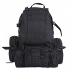 Outdoor Backpack 50L Tactical Sport Bag for Climbing Hiking - Black