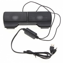 Mini Portable USB Stereo Speaker with Line Controller (1 Pair)