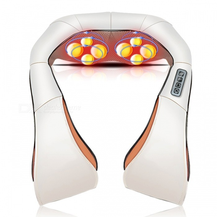 Electrical Shiatsu Cervical Back Neck Shoulder Massager - BeigeRelax and Massagers<br>Form  ColorBeige-110V/UK PlugMaterialComposite MaterialQuantity1 pieceShade Of ColorWhiteMassager PartShoulder\WaistPrinciple of MassageMassage &amp; RelaxationMassage ManipulationKneadingControl ModeKeyNumber of Massage Heads2 piecesThermotherapy FunctionYesTiming FunctionYesDigital Strength ShowsNoBattery included or notNoPower SupplyOthers,110VPower AdapterUK PlugPower- WPacking List1 x Massager<br>