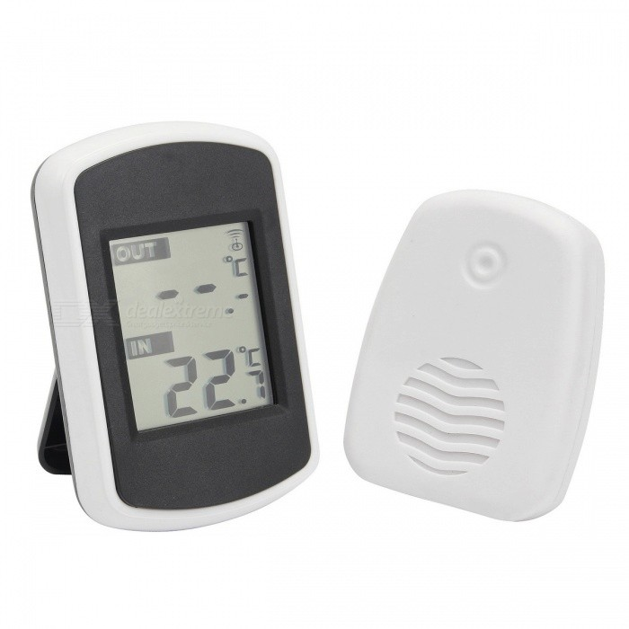 Ambient Weather Wireless Thermometer with Temperature DisplayTemperature Instruments<br>Form  ColorWhiteModel-Quantity1 pieceMaterialABSScreen Size- cmCelsius Range-Fahrenheit Range- ?Auto Power OffNoPowered ByAAA BatteryBattery Number4Battery included or notNoPacking List1 x Receiver1 x Transmitter1 x User Manual (English)<br>