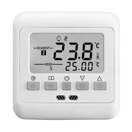 16A Floor Heating Digital Thermostat with Blue Backlit