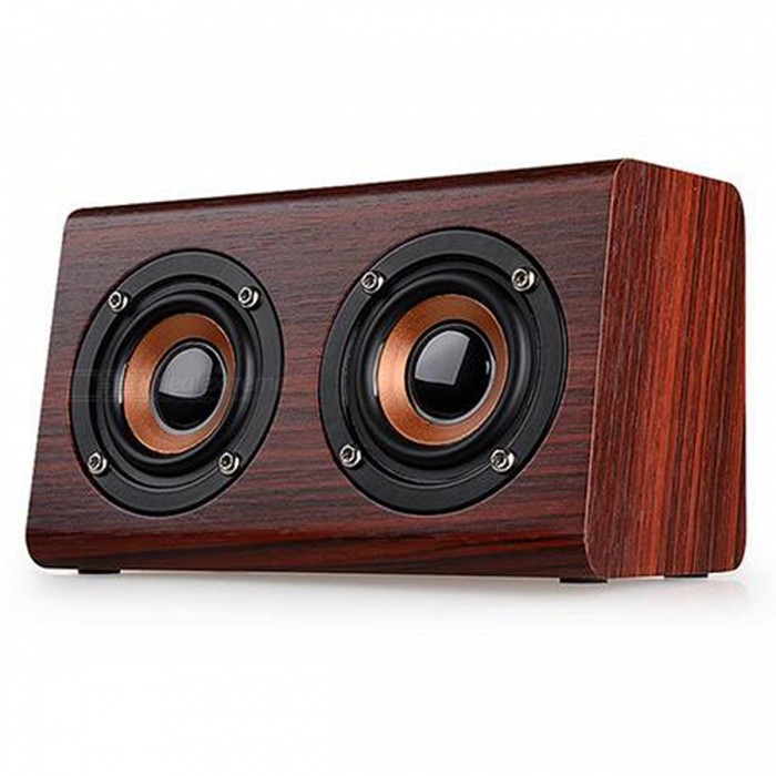 W7 Retro Wood HIFI Bluetooth Wireless Speaker with Microphone - RedBluetooth Speakers<br>Form  ColorRedModelW7MaterialWoodQuantity1 pieceShade Of ColorRedBluetooth HandsfreeYesBluetooth VersionBluetooth V3.0Operating Range10MTotal Power10 WChannels2.0Interface3.5mmMicrophoneYesApplicable ProductsUniversalBuilt-in Battery Capacity 1500 mAhPacking List1 x Bluetooth WoodenSpeaker1 x User Manual1 x USB Cable<br>