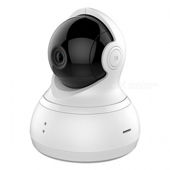International Edition Xiaomi YI DOME Home 360 Degree Rotary IP CameraIP Cameras<br>Form  ColorWhitePower AdapterEU PlugMaterialABSQuantity1 pieceImage SensorCMOSPixels720P(HD)Viewing AngleOthers,112 °Video Compressed FormatH.264Night VisionYesIR-LED Quantity8Night Vision Distance10 mWireless / WiFi802.11 b / g / nNetwork ProtocolIPSupported SystemsOthers,Windows 7,Windows Vista,Windows 98,Mac os,WiSupported BrowserOthers,N/AOnline Visitor-Mobile Phone PlatformAndroid,iOSFree DDNSYesMotorYesZoom2.66mmSupported LanguagesEnglishRate Voltage5VRated Current1 APacking List1 x IP Camera<br>