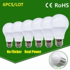 LED Bulb Lamp E27 15W High Brightness Light Bulb - Cold White / 6PCS