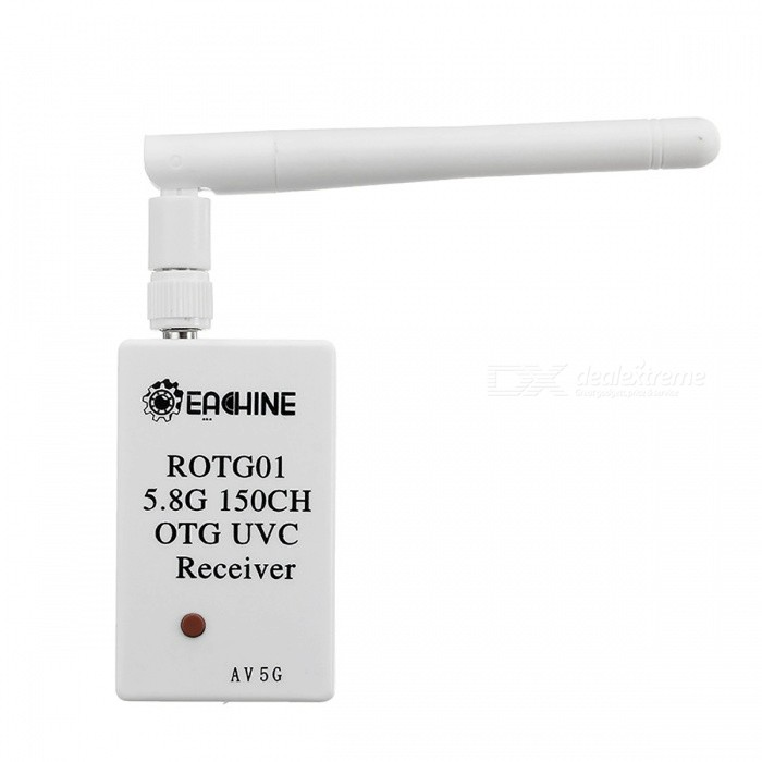 ROTG01 UVC OTG 5.8GHz 150CH Full Channel FPV Receiver - WhiteOther Accessories for R/C Toys<br>Form  ColorWhiteModelN/AMaterialComposite MaterialQuantity1 setCompatible ModelAndroid Mobile Phones SmartphonesPacking List1 x ROTG01 5.8GHz 150CH Mobile Receiver 1 x SMA Antenna1 x USB Cable<br>