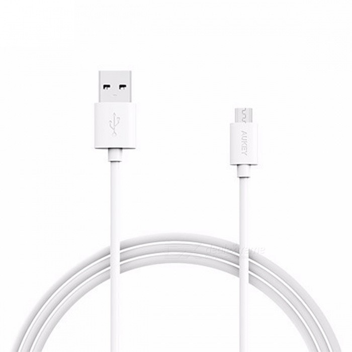 AUKEY CB-D9 2m Universal USB 2.0 Male to Micro USB Data Cable - WhiteCables<br>Form  ColorWhiteModelCB-D9MaterialPVCQuantity1 pieceCompatible ModelsPhones, tabletsCable Length200 cmConnectorUSB 2.0, Micro USBPacking List1 x 2M Cable<br>