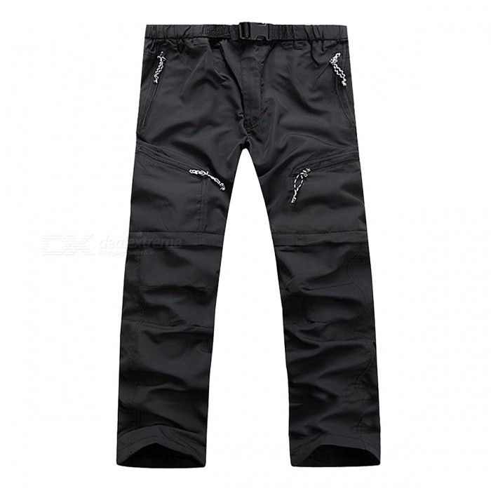 Summer Outdoor Fast Drying Mens Pants - BlackForm  ColorBlackSizeXLModelN/AQuantity1 pieceMaterialNylonShade Of ColorBlackSeasonsSpring and SummerGenderMensWaist80-86 cmHip Girth104 cmTotal Length103 cmBest UseOthers,Hiking,Camping,Hunting.Climbing.Fishing,RunningSuitable forAdultsPacking List1 x Pants<br>