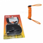 Disc Brakes Bicycle Small Anti-Theft Alarm Lock with Rope - Black
