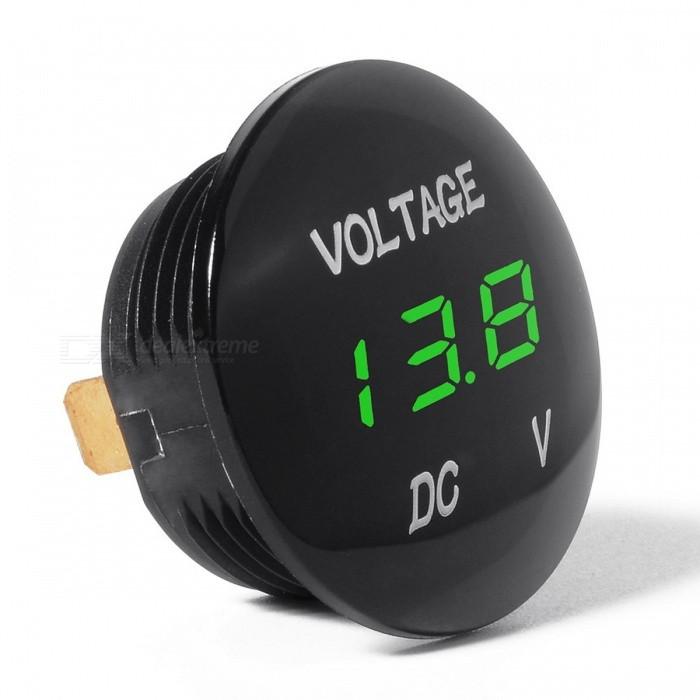 DC 12V-24V LED Display Voltmeter for Car Motorcycle Auto TruckTesters &amp; Detectors<br>Form  ColorBlackModelN/AQuantity1 pieceMaterialPlasticPacking List1 x LED DC Voltmeter2 x Insulated Terminals<br>