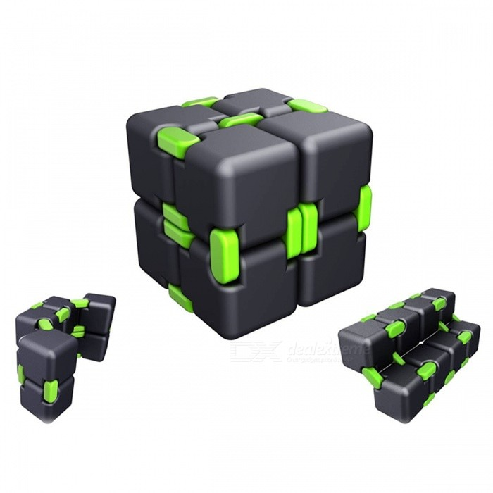 Anti Stress Magic Cube Finger Spinner Toy - GreenMagic IQ Cubes<br>Form  ColorGreenMaterialPlasticQuantity1 DX.PCM.Model.AttributeModel.UnitTypeOthers,2x2x2Suitable Age 3-6 months,6-9 months,9-12 months,12-15 yearsPacking List1 x Magic Cube<br>