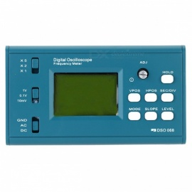 LCD Digital Storage Oscilloscope, Frequency Meter with BNC Probe