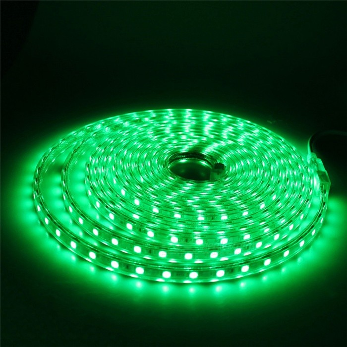 Waterproof 5050 SMD LED Flexible LED Strip Light - Green Light/8M5050 SMD Strips<br>Form  ColorWhiteColor BINGreen-8MMaterialPCB + siliconeQuantity1 DX.PCM.Model.AttributeModel.UnitPower24WRated VoltageAC 220 DX.PCM.Model.AttributeModel.UnitChip BrandEpistarEmitter Type5050 SMD LEDTotal Emitters480Wavelength-Actual Lumens700-2400 DX.PCM.Model.AttributeModel.UnitPower AdapterEU PlugPacking List1 x 5050SMD LED Strip Light1 x EU Plug<br>