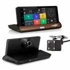 """7"""" IPS 3G Wi-Fi Car DVR Android 5.0 GPS Camcorder w/ Rear Camera"""