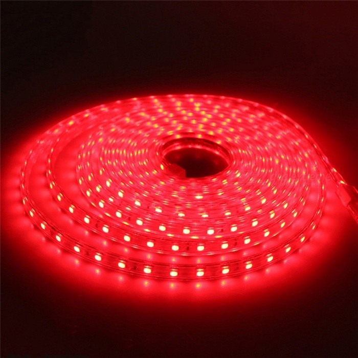 Waterproof 5050 SMD LED Flexible LED Strip Light - Red Light/6M5050 SMD Strips<br>Form  ColorWhiteColor BINRed-6MMaterialPCB + siliconeQuantity1 DX.PCM.Model.AttributeModel.UnitPowerOthers,18WRated VoltageAC 220 DX.PCM.Model.AttributeModel.UnitChip BrandEpistarEmitter Type5050 SMD LEDTotal Emitters360Wavelength-Actual Lumens700-1800 DX.PCM.Model.AttributeModel.UnitPower AdapterEU PlugPacking List1 x 5050SMD LED Strip Light1 x EU Plug<br>