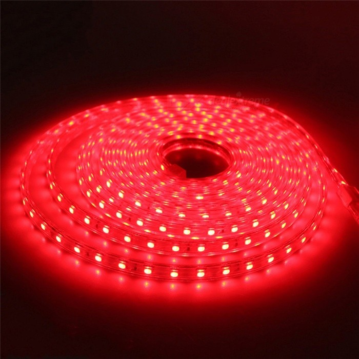 Waterproof 5050 SMD LED Flexible LED Strip Light - Red Light/2M5050 SMD Strips<br>Form  ColorWhiteColor BINRed-2MMaterialPCB + siliconeQuantity1 DX.PCM.Model.AttributeModel.UnitPower6WRated VoltageAC 220 DX.PCM.Model.AttributeModel.UnitChip BrandEpistarEmitter Type5050 SMD LEDTotal Emitters120Wavelength-Actual Lumens600 DX.PCM.Model.AttributeModel.UnitPower AdapterEU PlugPacking List1 x 5050SMD LED Strip Light1 x EU Plug<br>
