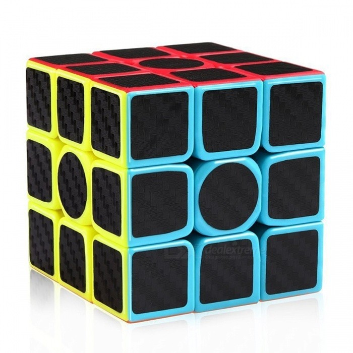 Carbon Fiber Sticker Speed 3x3x3 Magic CubeMagic IQ Cubes<br>Form  ColorBlack + ColorfulModelN/AMaterialPlasticQuantity1 DX.PCM.Model.AttributeModel.UnitType3x3x3Suitable Age 3-4 years,5-7 years,8-11 years,12-15 yearsPacking List1 x Magic Cube<br>