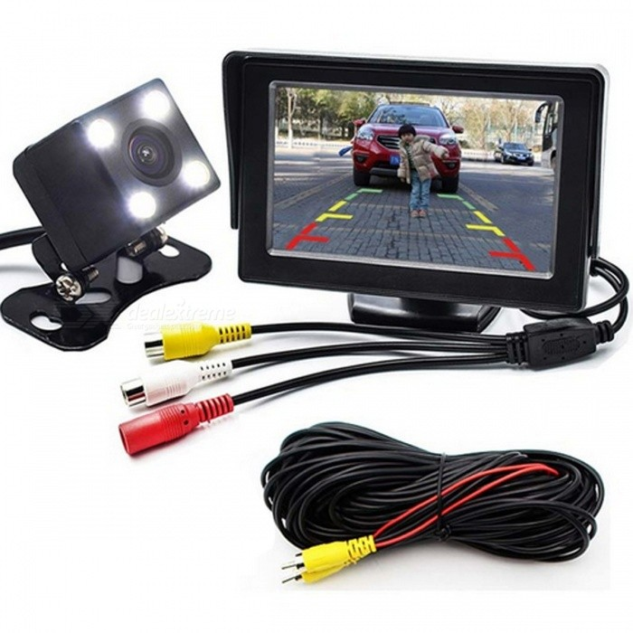 2-in-1 Car Parking Monitor with Rearview Camera + 10M RCA Video CableRearview Mirrors and Cameras<br>Form  ColorWith 10M Video CableModel-Quantity1 DX.PCM.Model.AttributeModel.UnitMaterialABSCompatible MakeOthers,For Audi, BMW, VW, Ford, Toyota, Honda, Kia. Hyundai, Opel, Nissan, Mazda, Benz, Suzuki, Ssangyong etc.Compatible Car ModelFor Audi, BMW, VW, Ford, Toyota, Honda, Kia. Hyundai, Opel, Nissan, Mazda, Benz, Suzuki, Ssangyong etc.StyleExternalScreen Size4.3 inch TFT screenLED Qty4Water-proofIP68Power SupplyDC 12VPacking List1 x Car Parking Monitor1 x 10M Video Cable<br>