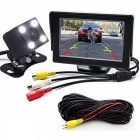 2-in-1 Car Parking Monitor with Rearview Camera + 10M RCA Video Cable