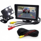 2-in-1 Car Parking Monitor with Rearview Camera + 6M RCA Video Cable