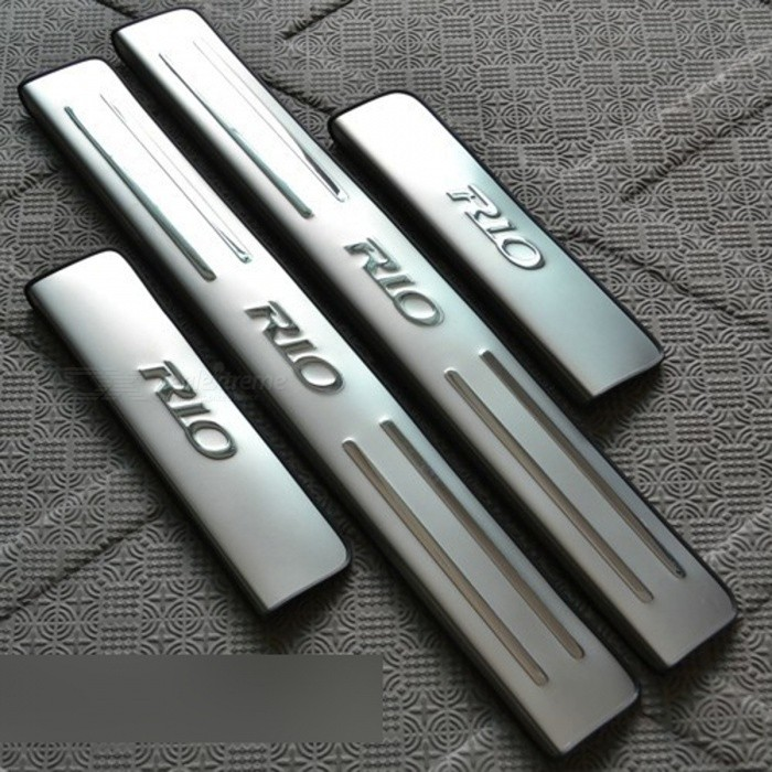 Car Stainless Steel Scuff Plate Door Sill Cover for KIA RIO K2 - 4PCSOther Interior<br>Form  ColorStainless steelModel·Quantity1 DX.PCM.Model.AttributeModel.UnitMaterialStainless steelPacking List4 x Covers<br>
