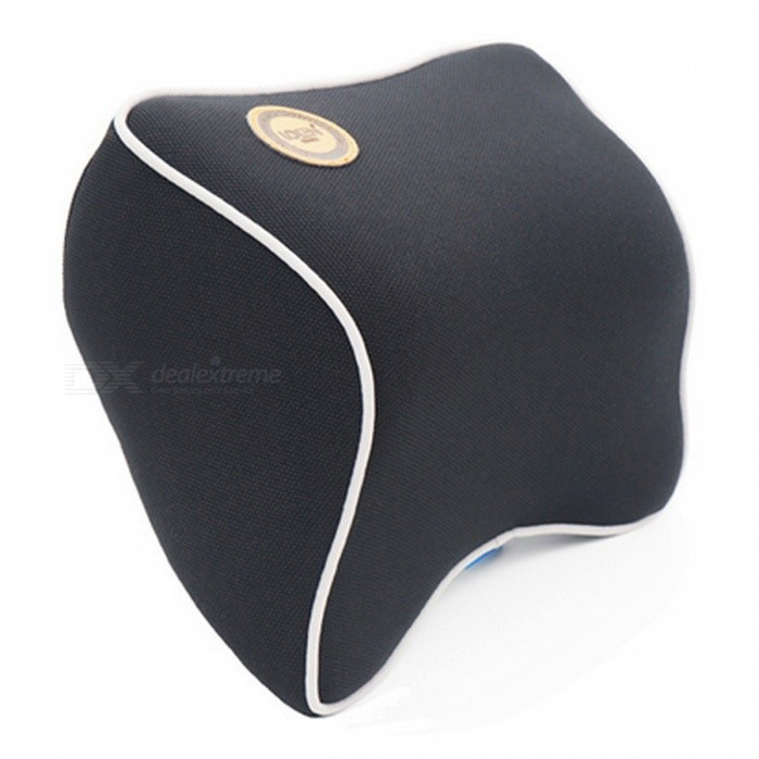 Memory Foam Fabric Car Headrest Neck Pillow - BlackCar Cushions and Pillows<br>Form  ColorBlackModelN/AQuantity1 DX.PCM.Model.AttributeModel.UnitMaterialSynthetic FiberShade Of ColorBlackTypePillowSurface MaterialSynthetic FiberLining MaterialSpace memory fabricsPacking List1 x Car Neck Pillow<br>