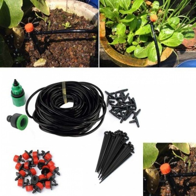 Dripper Kit Automatic Plant Self Watering Garden Hose 5m - Black