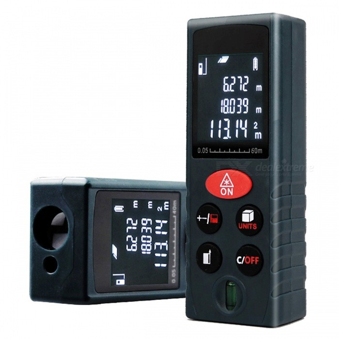 60m Handheld Laser Distance Meter Range FinderLaser Rangefinder, Electronic Distance Meter<br>Form  Color60MModelLRD110Quantity1 DX.PCM.Model.AttributeModel.UnitMaterialABSDetection Range0.05~60mMeasuring Accuracy+/-2mmLaser Level620~690nm, Max.Storage20 unitsPowered ByAAA BatteryBattery included or notNoPacking List1 x Laser Distance Meter (2xAAA, not included)<br>