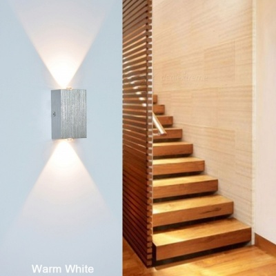2W Aluminum LED Wall Lamp for Bedroom - Cold White