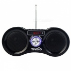 Camouflage Stereo FM Radio Speaker, Support USB, TF Card - Black